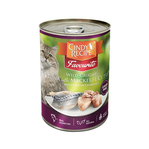 Foto Produk cindys recipe 400 gr cat wild caught tuna with mackerel cutlet dari F.J. Pet Shop