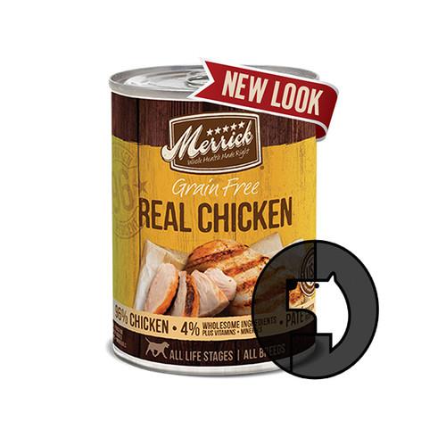 Foto Produk merrick grain free 360 gr (12.7 oz) dog real chicken dari F.J. Pet Shop