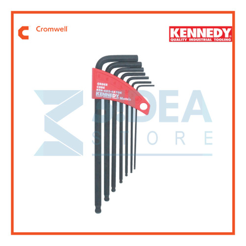 7-Pce Kennedy Metric L-Wrench Ball Driver Set