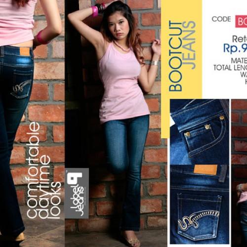 Foto Produk Celan Jeans Model BOOTCUT No.28 Warna Biru Belel dari LABEL9 CLOTH
