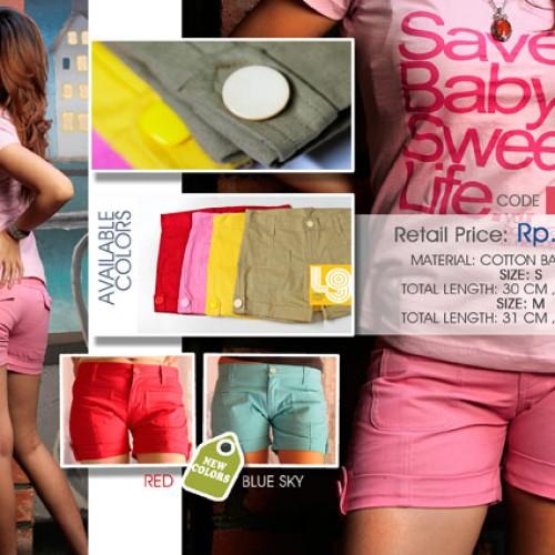 Foto Produk Celana pendek Baby Kanvas warNa Pink ukuran 28 dari LABEL9 CLOTH