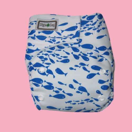 Foto Produk Ziggie Zag JUMBO Cloth Diaper - Swim Fish dari CHRISTALIS Shop