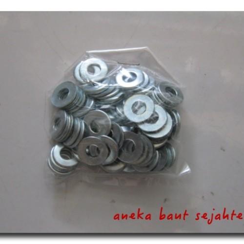 Foto Produk Ring Plat M5 Putih dari ANEKA BAUT SEJAHTERA