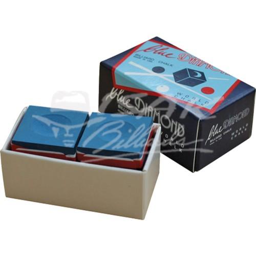 Foto Produk Blue Diamond Chalk - 2 Piece Billiard Chalk - Kapur Biliar - Biru dari ISAK Billiard Sport Co.