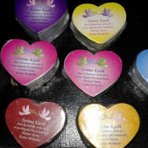 Foto Produk souvenir kartu ucapan terima kasih love murah dari reyhan souvenir