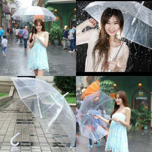 Foto Produk Payung Transparan Bening umbrella transparant Korea Japan Best Quality dari lbagstore