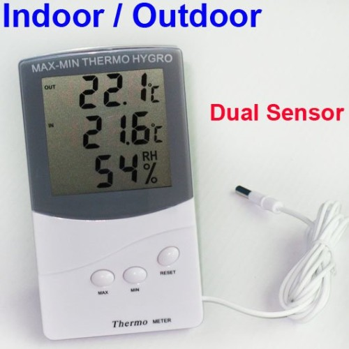 Foto Produk Hygrometeter Thermometer Indoor & Outdoor (2 sensor) dari HRDIK