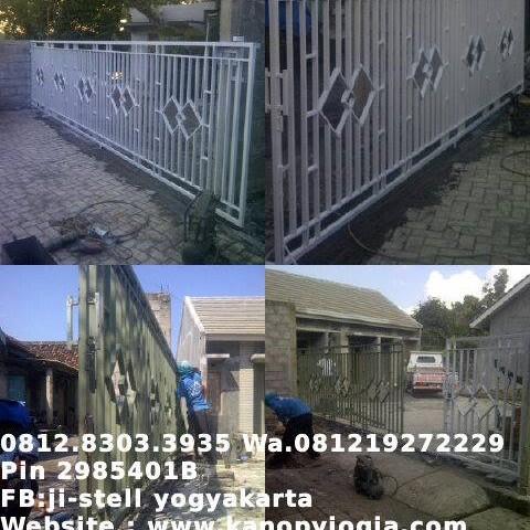 Jual Pagar Minimalis Pintu Besi Jogja Yogyakarta Trend Minimalis Art Tokopedia