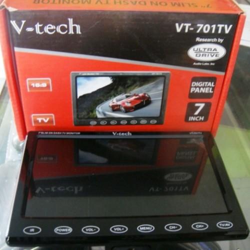Jual Tv Mobil 7 Inch Slim On Dash Vtech Vt 701tv Berkualitas Kab Sragen Galaxyaudio Tokopedia