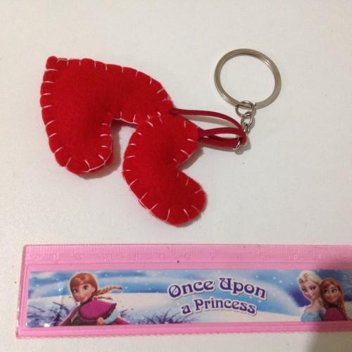 Foto Produk Gantungan kunci sepasang hati couple hadiah suvenir valentine valentin dari dr9020