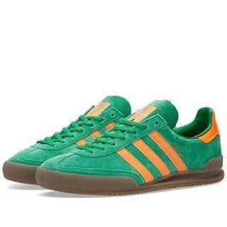 rebanada Roca De confianza  Jual Adidas Jeans Green Solar Orange Gum - Malang - Aria Sneakers |  Tokopedia