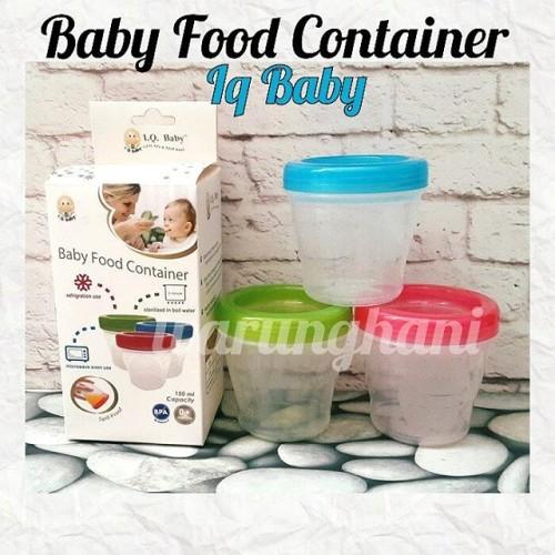 Foto Produk Baby food container iq baby | tempat mpasi | tempat asi dari warunghani