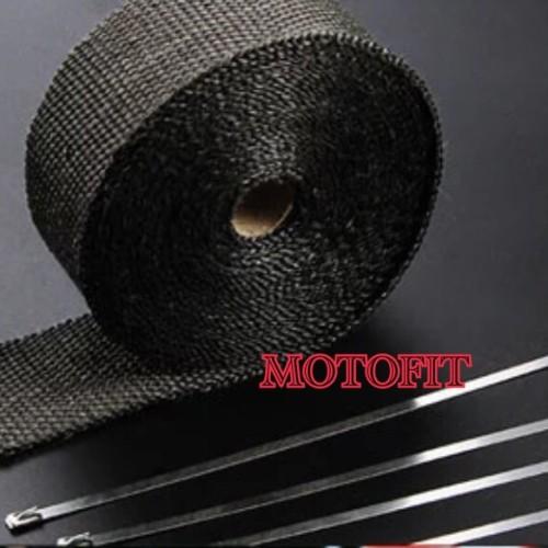 Foto Produk Glass Fiber Hitam Pembalut / Peredam Panas Knalpot / Exhaust Wrap 0 dari MOTO FIT VARIASI