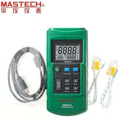 Foto Produk Thermocouple with Data Logging Mastech MS6514 Dual Channel Thermometer dari HRDIK