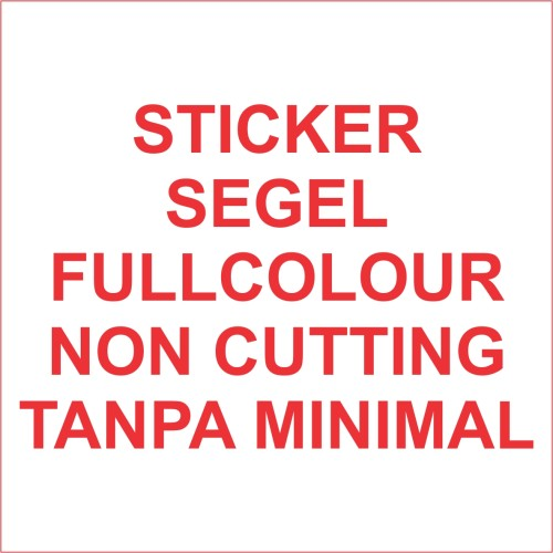 Foto Produk Stiker segel Garansi fullcolour noncutting (bahan pecah telur) dari Samurai Printing