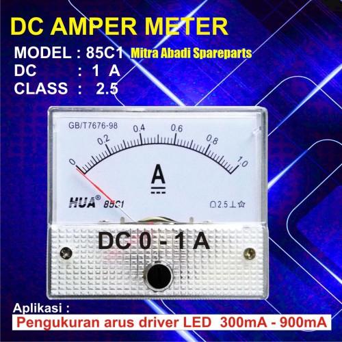 Foto Produk Amperemeter Analog DC 1A / 1 Ampere / 1000 mA dari Mitra Abadi Spareparts
