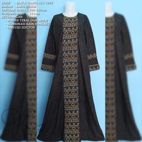 Foto Produk BLACK G 313 TEPZ IRENE HIJAB MAXI GAMIS DRESS FASHION MUSLIMAH dari Warung Wongkito