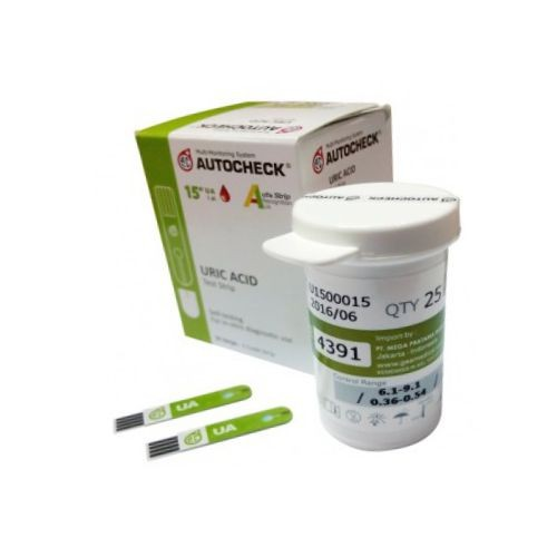 Foto Produk Strip Stik Asam Urat Uric Acid Autocheck dari OneMed-Medicom
