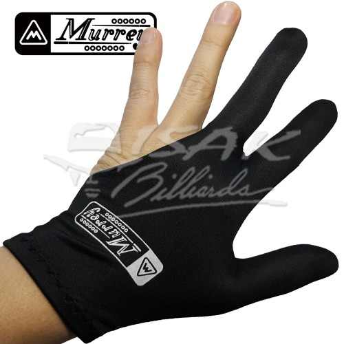 Foto Produk Murrey 3-finger Gloves, Pool Billiard - Lycra One Size Fits All Black dari ISAK Billiard Sport Co.