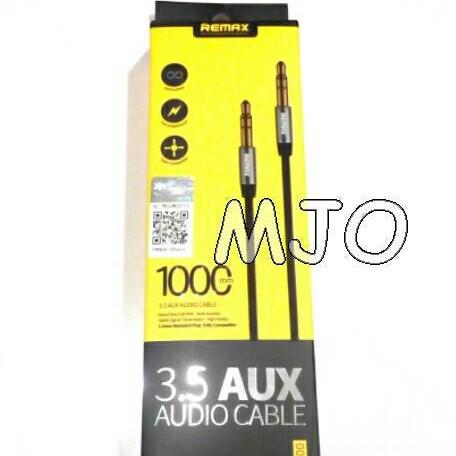Foto Produk Kabel Audio Aux merk REMAX ORIGINAL, panjang 1mtr dari MJO online