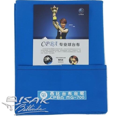 Foto Produk Kain Laken 9-ft CPBA MG-700 - Electric Blue - Billiard Biliar Cloth dari ISAK Billiard Sport Co.