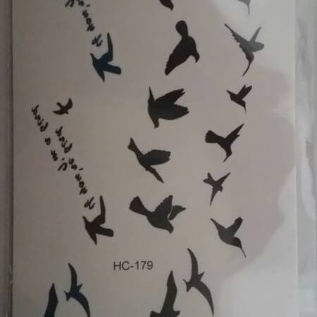 Foto Produk Temporary Bird tattoo sticker / tato burung / tatoo import dari HN Collections