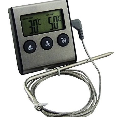 Foto Produk Food Thermometer with Timer D24 - Termometer Makanan Stainless Steel dari HRDIK