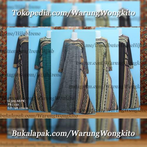 Foto Produk G305AEPK/G 305 AEPK IRENE HIJAB AUDREY MAXI GAMIS DRESS MUSLIMAH ADEM dari Warung Wongkito