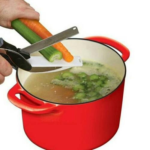 Foto Produk Clever cutter / gunting pemotong sayur pisau dapur tajam dari grosirltc