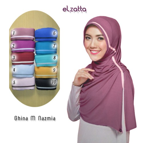 Jual Elzatta Hijab Kerudung Jilbab Instan Bergo Ghina M Nazmia Asli Terbaru Bekasi Elzatta Online Tokopedia