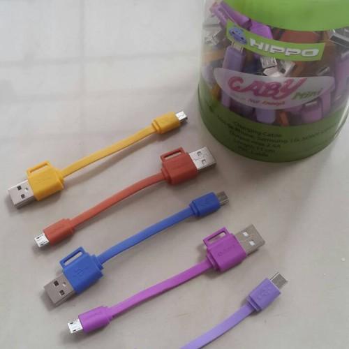 Foto Produk Kabel Data Hippo Caby Mini / Kabel Charger /  Fast Charging Micro USB dari Buka Lapakpedia
