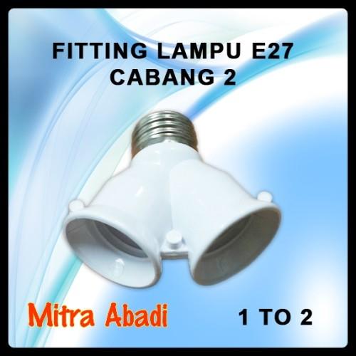 Foto Produk Fitting Lampu E27 Cabang 2 dari Toko Mitra Abadi