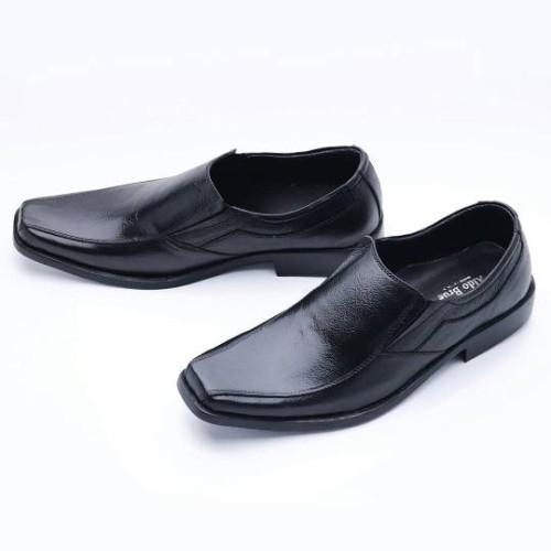 Foto Produk Sepatu Pria Pantofel Formal Slip On Kulit Asli MURAH 502HT - Hitam, 38 dari FORDZA Shop