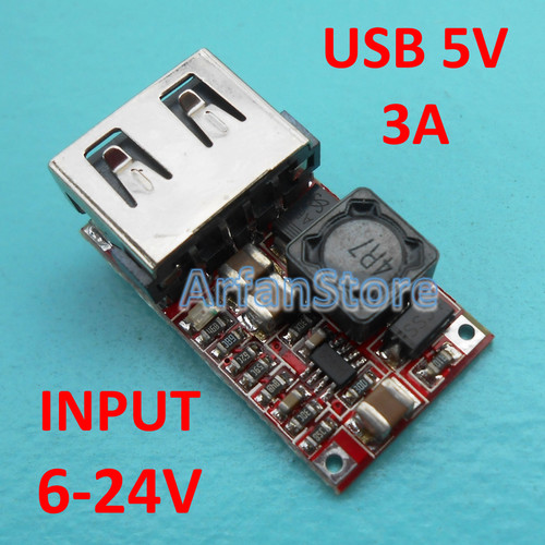 Foto Produk Kit Charger HP Motor Mobil Truk USB 5V 3A Fast Speed Android Iphone dari ArfanStore