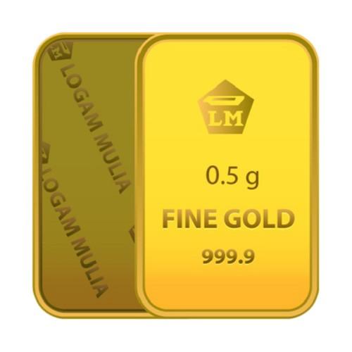 Foto Produk Emas Batangan Logam Mulia Antam Bersertifikat Fine Gold 0.5gr dari bunga-shoopia