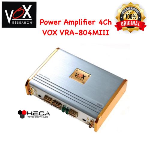Foto Produk Power Amplifier 4Ch VOX VRA-804MIII 4 Channel VRA 80.4 MIII 804 dari High End Car Audio