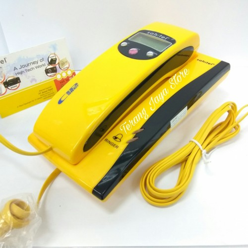 Foto Produk Telepon Kabel Sahitel S35 Pesawat Telepon Rumah Sahitel S-35 (Kuning) dari Terang Jaya Store