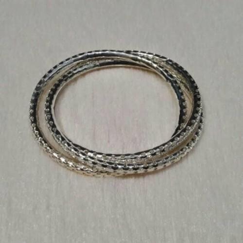 Foto Produk Set Gelang Perak Motif Bulat-Bulat Kecil (Isi 3) Limited dari Perkakas Anda