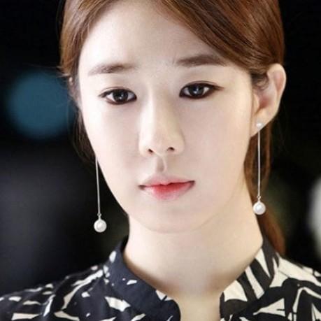 Foto Produk ANTING KOREA WANITA IMPORT TUSUK MUTIARA PANJANG SILVER S925 dari All the Things I Need