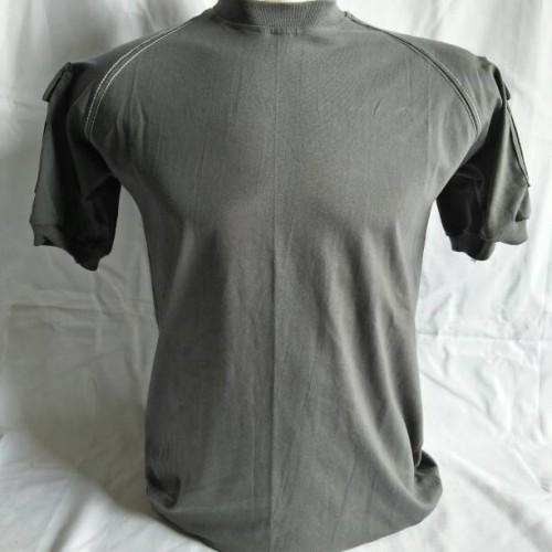 Foto Produk kaos tactical velcro polos dark grey&milo/abu&krem pendek katun dari dn_17 army shop