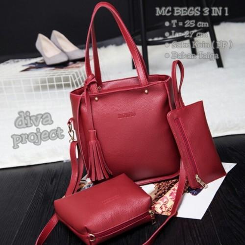 Foto Produk Sling bag 3in1 rumbai polos dari Then4Shop