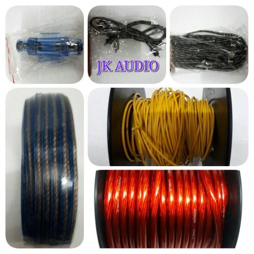 Foto Produk Kabel Kabel Untuk Audio Mobil Full Set dari JK Audio