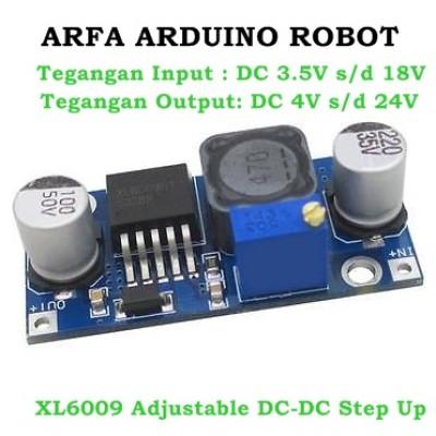 Foto Produk XL6009 Adjustable DC-DC Step Up Boost Converter Module dari Arfa Arduino Robot