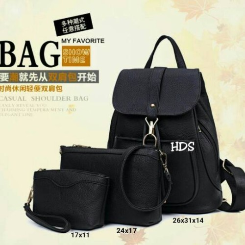 Foto Produk tas fashion wanita murah backpack 3in1 dari Then4Shop