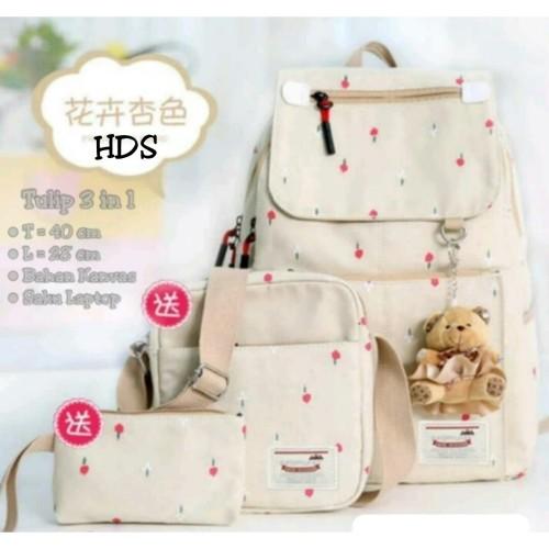 Foto Produk Tas sekolah wanita murah backpack tulip 3in1 dari Then4Shop