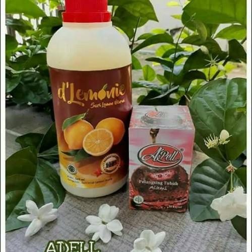 Foto Produk PELANGSING APEL DAN sari lemon DLEMONIE 500ml dari ZafranOlshop