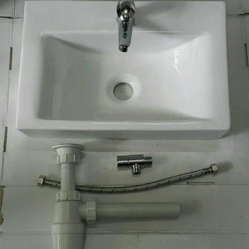 Foto Produk Wastafel Kotak Model TOTO set murah dari Juragan Sanitary