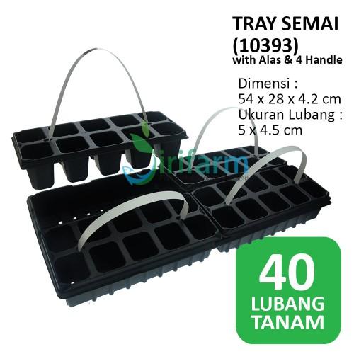 Foto Produk Tray Semai GPT40F 40 Lubang 57x26x6cm + Alas 4 handle Hidroponik 10393 dari JIRIFarm Hidroponik
