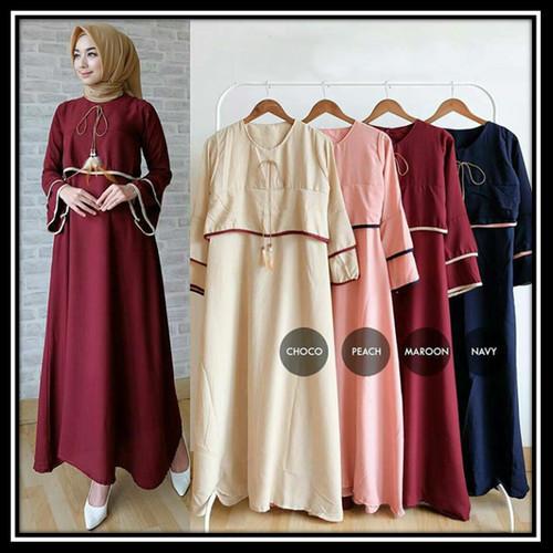Jual Long Dress Modern Gamis Muslimah Baju Muslim Kuliah Santai Hy22 Tanah Abang Gamis Fashion Store Tokopedia