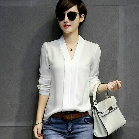 Foto Produk [blouse white zuky RO] blouse wanita rayon bangkok putih dari FASHIONISTA's GROSIR